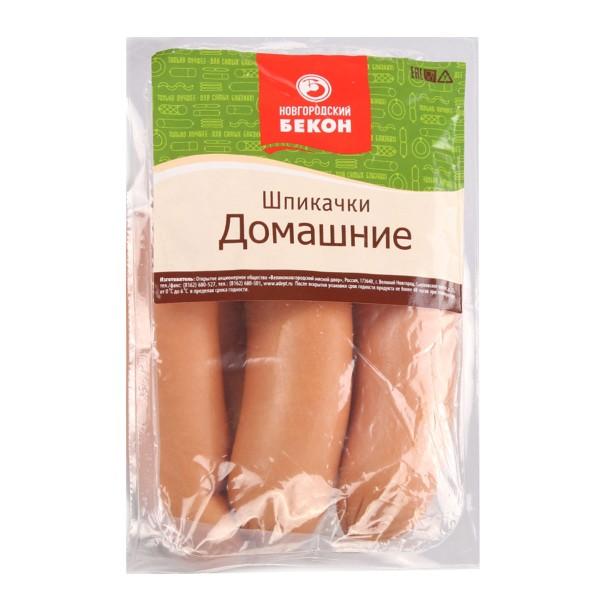 Шпикачки Домашние Новгородский бекон 500гр