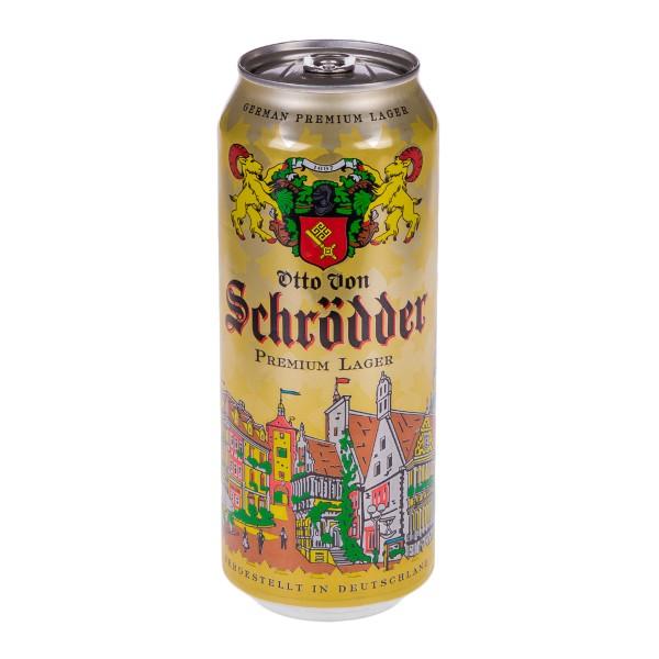 Пиво Отто Фон Шрёддер Премиум Лагер  светлое 0,5л 4,9%