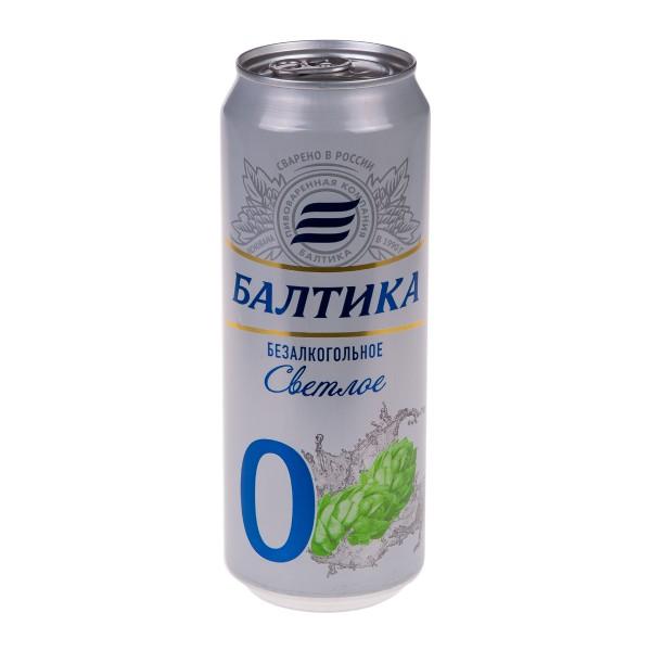 Пиво безалкогольное 0,5% Балтика №0 0,45л
