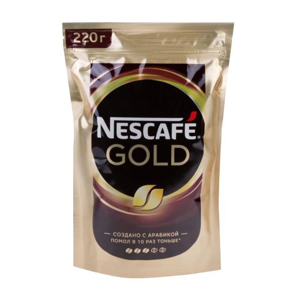 Кофе растовримый Nescafe Gold 220гр