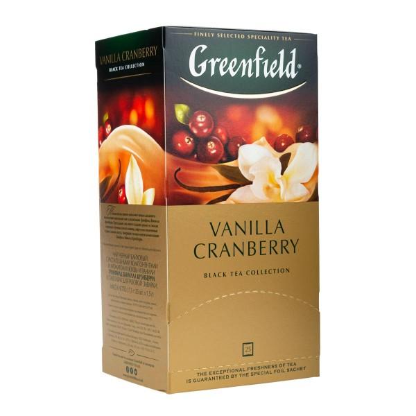 Чай черный Greenfield Vanilla Cranberry 25пак