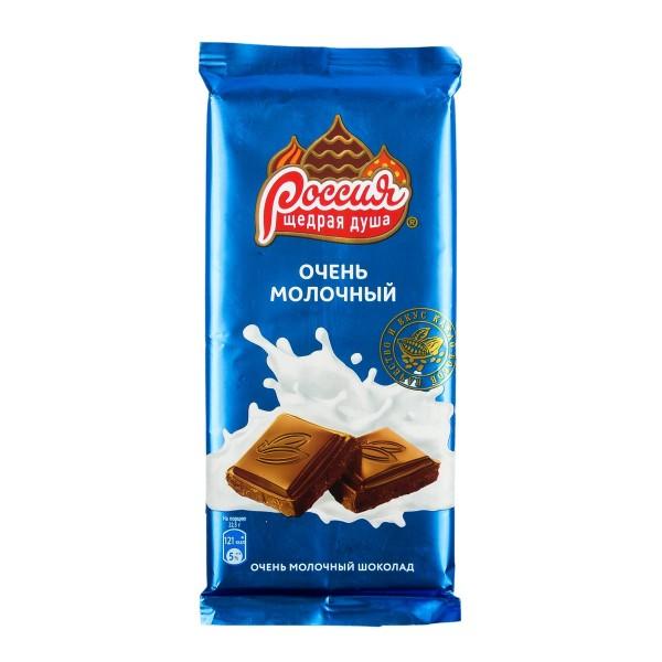 Шоколад Очень молочный Россия щедрая душа 90гр молочный