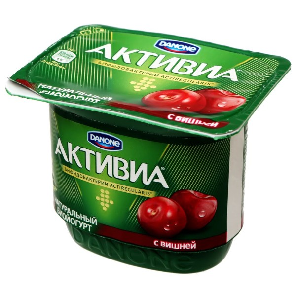 Биойогурт Активиа 2,9% 150гр вишня-яблоко-малина