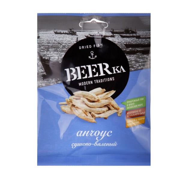 Анчоус Beerka сушено-вяленый 25гр