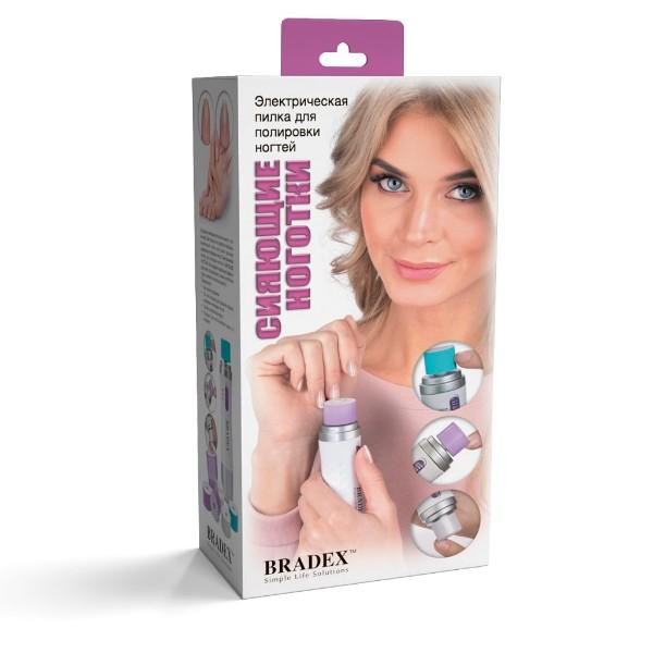 Электрическая пилка для полировки ногтей Сияющие ноготки Bradex