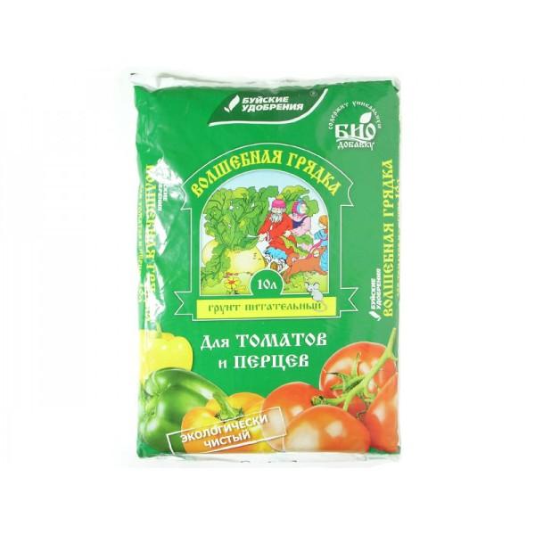 Грунт Для томатов и перцев Волшебная грядка  Буйский химический завод 10л