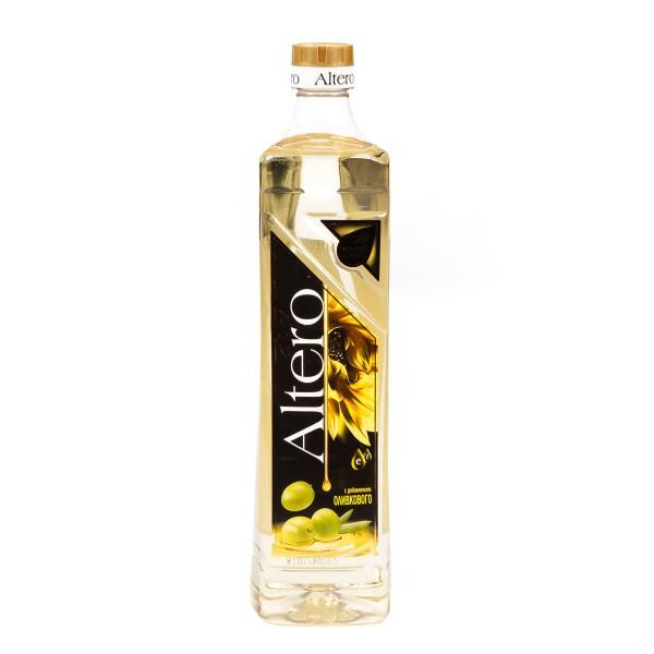 Масло подсолнечное Altero Golden с добавлением оливкового 0,81л