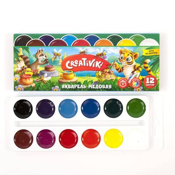 Краски акварель Creativiki 12 цветов
