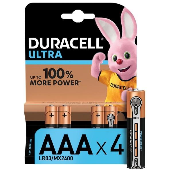 Батарейка Duracell Ultra Power AAА LR03 4шт
