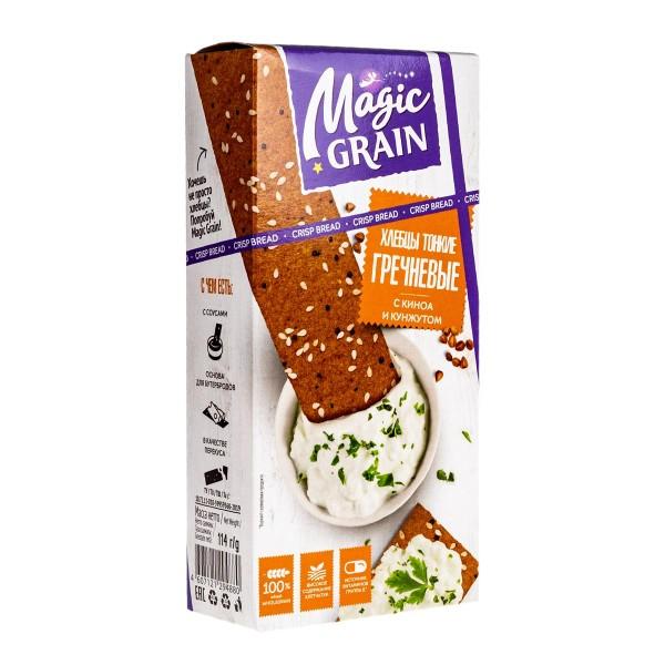 Хлебцы тонкие Magic grain 114гр гречневые с киноа и кунжутом