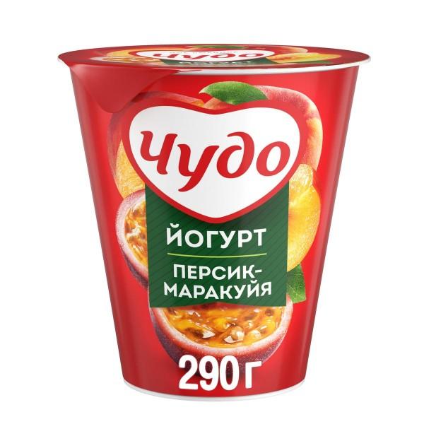 Йогурт Чудо 2,5% 290гр персик-маракуйя БЗМЖ