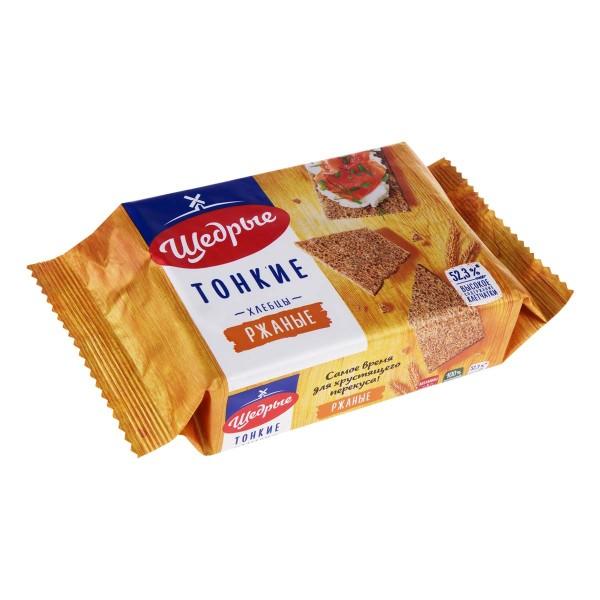 Хлебцы тонкие Щедрые 170гр ржаные