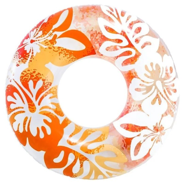 Круг надувной Intex Clear Color/ Bestway Радуга 91см от 9 лет