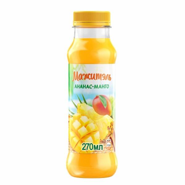 Напиток сывороточно-молочный с соком Мажитэль 0% 270гр ананас-манго БЗМЖ