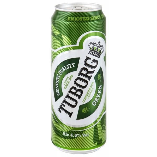 Пиво Tuborg Green 4,6% 0,45л