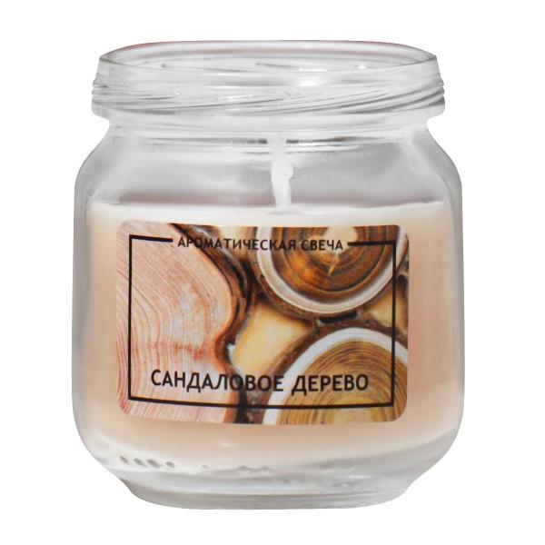 Свеча ароматическая в банке Сандаловое дерево