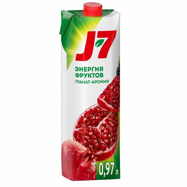 Нектар J-7 0,97л гранат-черноплодная рябина арония
