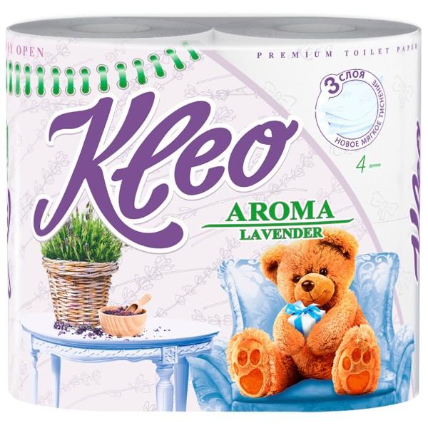 Бумага туалетная Kleo Ultra Aroma 3 слоя 4 рулона