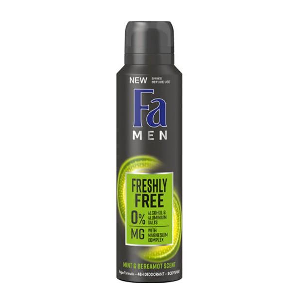 Дезодорант-спрей Fa men 150мл fresh & free мята-бергамот