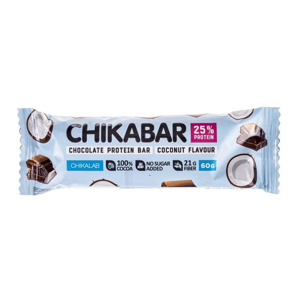 Батончик Chikabar глазированный Chikalab 60г кокос
