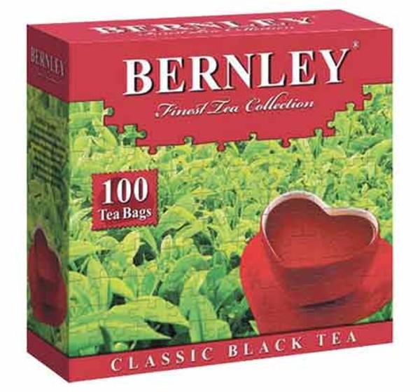 Чай Бернли классический индийский черный 100пак с ярлыком