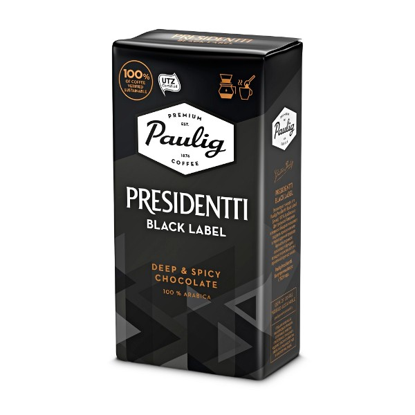 Кофе молотый Paulig Presidentti Black Label 250г