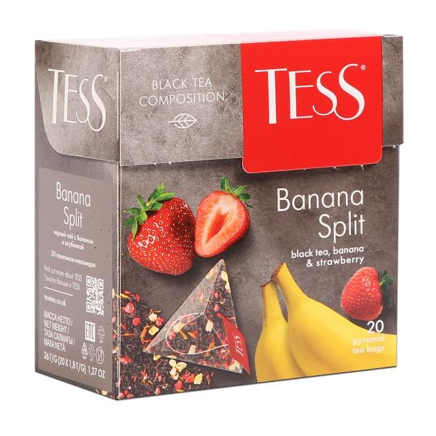 Чай черный Tess Banana Split 20пирамидок