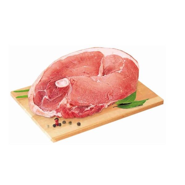 Свинина охлажденная на кости  задний окорок