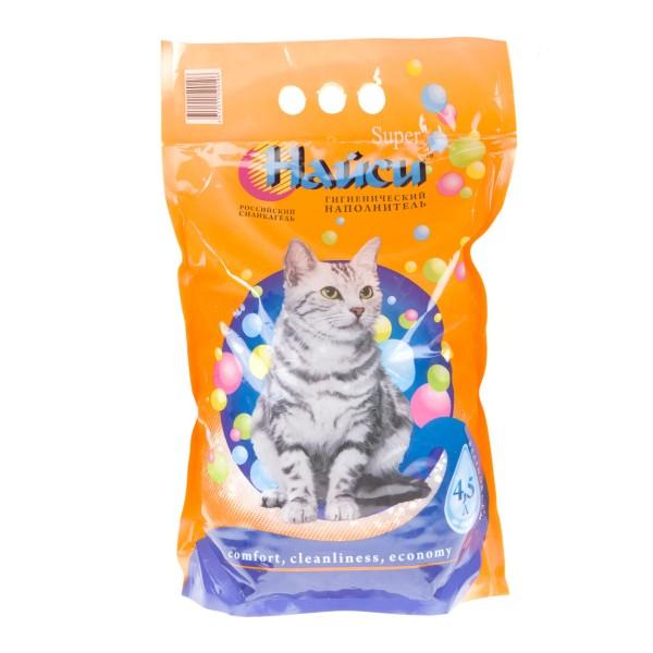 Наполнитель для кошачьих туалетов Найси супер силикагель 4,5л